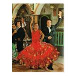 España, bailarines del flamenco tarjetas postales