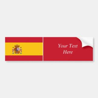 España - bandera española etiqueta de parachoque