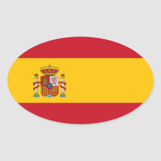 España - bandera española pegatina ovalada