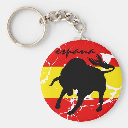 Espana Basic Round Button Keychain