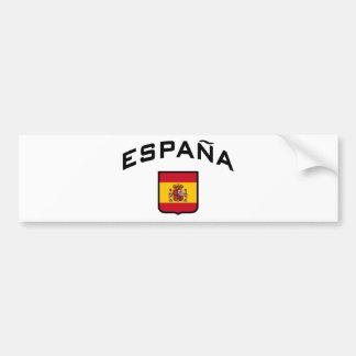 España Pegatina De Parachoque