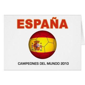 España Campeón del Mundo 2010 Greeting Card