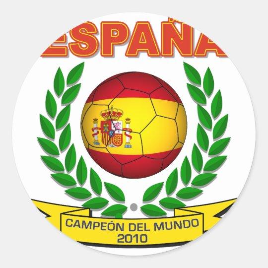 España Campeón del Mundo 2010 -d11 Classic Round Sticker