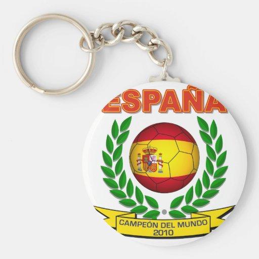 España Campeón del Mundo 2010 -d11 Key Chains