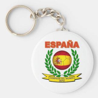 España Campeón del Mundo 2010 - d11 Llavero Redondo Tipo Pin
