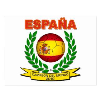 España Campeón del Mundo 2010 -d11 Postcard