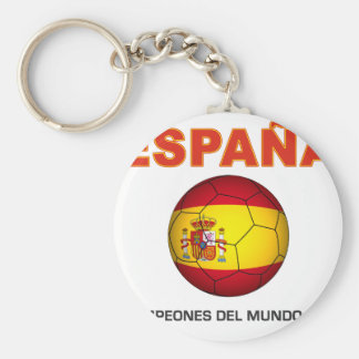 España Campeón del Mundo 2010 Llavero Redondo Tipo Pin