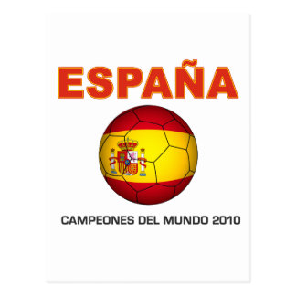 España Campeón del Mundo 2010 Post Cards