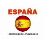España Campeón del Mundo 2010 Postal