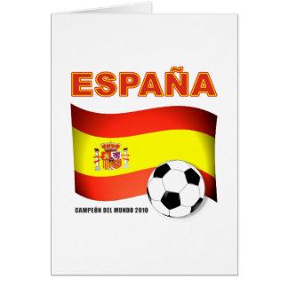 España Campeón del Mundo 2010 Sudáfrica Card