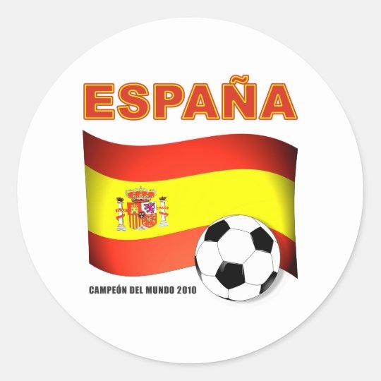 España Campeón del Mundo 2010 Sudáfrica Classic Round Sticker