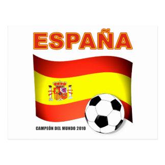 España Campeón del Mundo 2010 Sudáfrica Postcard