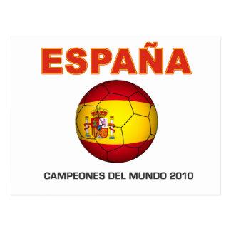 España Campeón del Mundo 2010 Tarjeta Postal