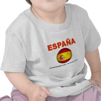 España Campeón del Mundo 2010 Tees