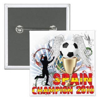 España Campeón Del Mundo 2 Inch Square Button