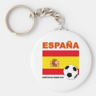 España Campeón del Mundo Basic Round Button Keychain