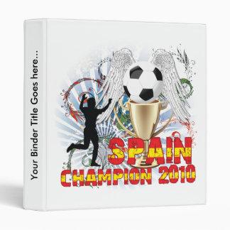 España Campeón Del Mundo Binder
