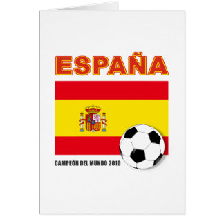 España Campeón del Mundo Greeting Cards