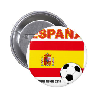 España Campeón del Mundo Pin Redondo 5 Cm