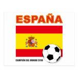 España Campeón del Mundo Postal