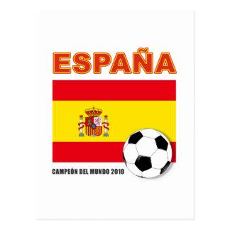 España Campeón del Mundo Postcard