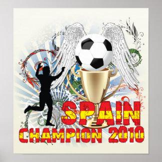 España Campeón Del Mundo Poster