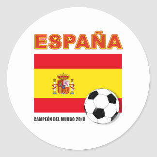 España Campeón del Mundo Classic Round Sticker