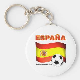España Campeón del Mundo Sudáfrica 2010 Llavero Redondo Tipo Pin