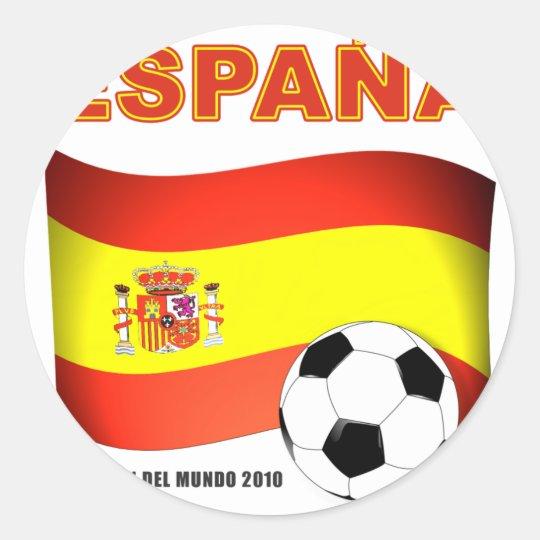 España Campeón del Mundo Sudáfrica 2010 Pegatina Redonda