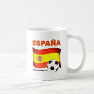 España Campeón del Mundo Sudáfrica 2010 Taza Básica Blanca