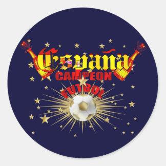 España Campeon Futbol gifts Round Stickers