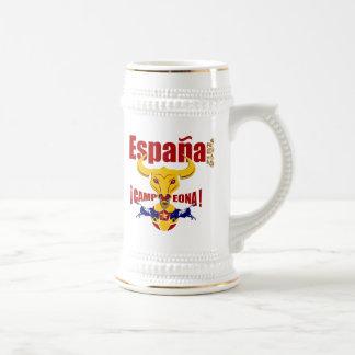España Campeona 2012 Jarro de Cerveza España Bull Taza