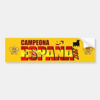 España Campeona 2012 Reyes del Fútbol Spain Car Bumper Sticker
