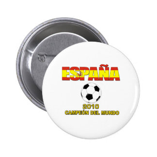 España Campeones del Mundo t-shirt 2010 Button