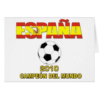 España Campeones del Mundo t-shirt 2010 Card