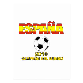 España Campeones del Mundo t-shirt 2010 Postcard