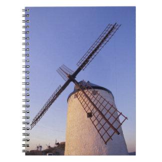 España, Consuegra, molinoes de viento 2 de Mancha  Libreta Espiral