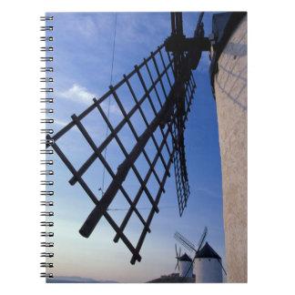 España, Consuegra, molinoes de viento de Mancha de Spiral Notebook