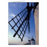 España, Consuegra, molinoes de viento de Mancha de Tarjetón