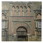 España, Córdoba, Moorish Mezquita (mezquita). Azulejo Cuadrado Grande