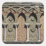 España, Córdoba, Moorish Mezquita, (mezquita). Calcomanías Cuadradases