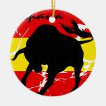 Espana Double-Sided Ceramic Round Christmas Ornament