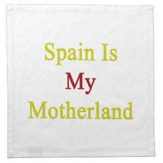 España es mi patria servilletas imprimidas