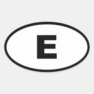 España - Espana - europeo Calcomania De Oval
