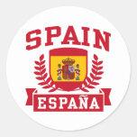 España Espana Pegatina Redonda