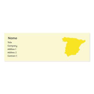 España - flaca plantillas de tarjetas personales