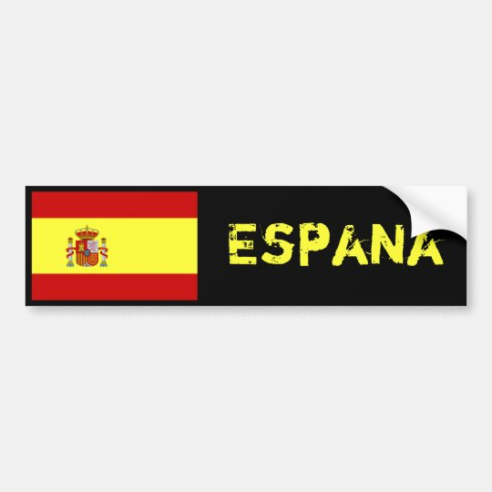 Espana flag bumper sticker