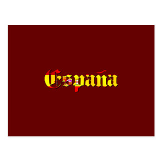 Espana flag logo - flag of Spain España logo Postcard