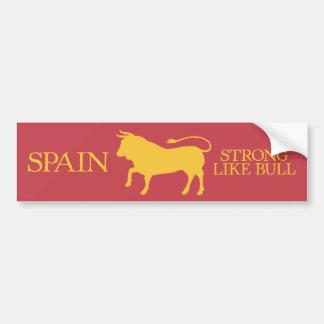 España fuerte como la pegatina para el parachoques pegatina para auto