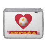 ESPAÑA Fútbol Corazón y Bufanda Brasil 2014 Funda Macbook Air